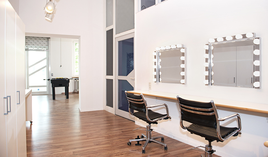 Hair/Make-up Raum im Mietstudio Stuttgart
